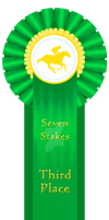 Seven Stakes 3rd Place Ribbon - 2015 by SynBrittany