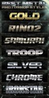 10 Metal Photoshop Styles 1of2 by fluctuemos