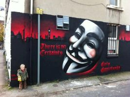 There is no Certainty - Only Opportunity by OpGraffiti