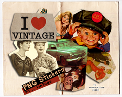 So..Vintage Stickers PNG by Farawlat-dxb