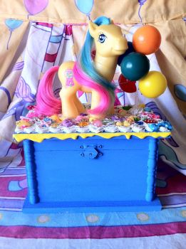 Bubblegum My Little Pony Jewelry Box by lessthan3chrissy