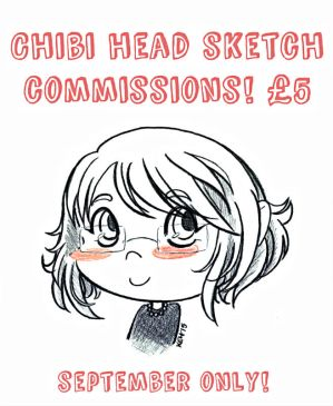 Chibi Head Sketch Commissions! (September Only) by tea-bug