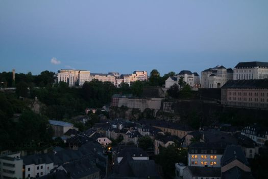 Luxembourg at night by MoonChildMaddi
