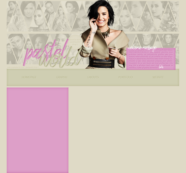 Past Layout ft. Demi Lovato by Katie-Salvatore