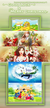 [Share PSD]: GoodLuck and Merry Christmas by Jenny3110