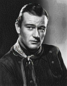 John Wayne Photo Mosaic by whendt