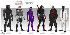 Black Mask's Assassins  (Young Justice style) by dark-BuB