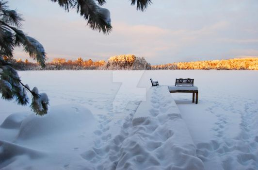Snow-covered Lake by PodiumPhoto
