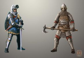 Knights concept by NeilBlade