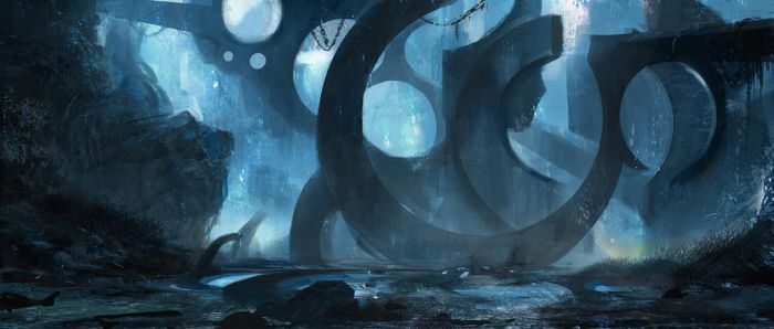 Abstract ruins by Grosnez