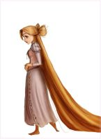 Hair bow Rapunzel by Arbetta