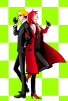 Ron and Grell by marimaripink