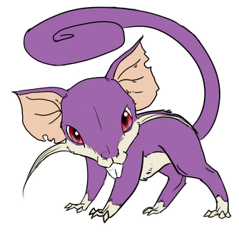 Rattfratz/Rattata (Mason) - PKMN-FF: DARK PAST by CourageOfWarrior