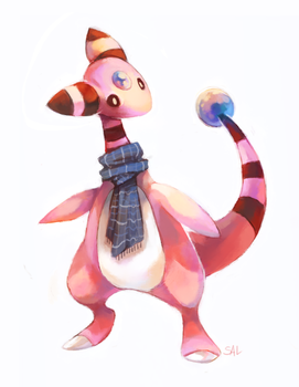 Commission:Shiny Ampharos by salanchu