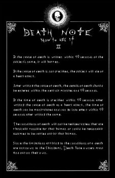 Deathnote Rules - page 2 by deathNote-club
