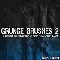 Grunge 2 Brushes - 2500px by AscendedArts