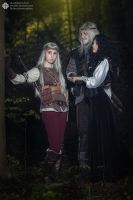 The Witcher books - Ciri, Geralt, Yenn by GreatQueenLina