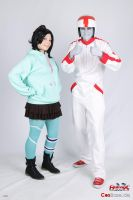 Vanellope and Turbo by eente