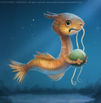 DAY 225. Goldfish Dragon by Cryptid-Creations