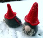 Wine holders, nisse by KnitLizzy