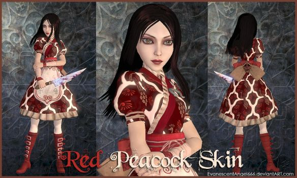 A:MR Skin - Red Peacock by EvanescentAngel666