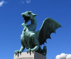 Dragon statue 01 by restmlinstock