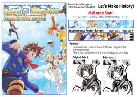 About mail order of  10th Anniversary Fan Book by kuuzokucluster