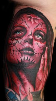 Day of the Dead Girl 2 by hatefulss