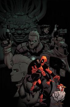 Deadpool, Chicken, Mutants by ANDYTAYLOR-GARBAGE