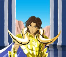 A new gold saint of aries by Innocent-Jay