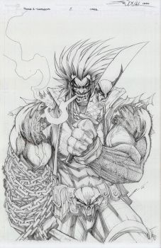 THE REAL LOBO IS BACK-- by Sandoval-Art