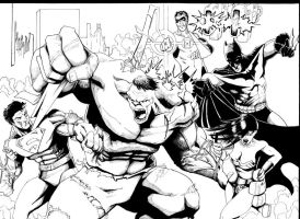 Hulk vs JLA 1 by LangleyEffect