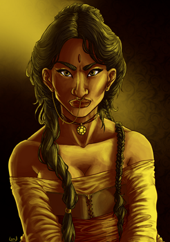 Woman in Yellow by magicalavatarian
