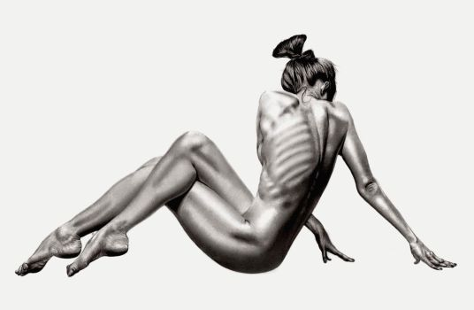 Female Bodyscape Drawing No.3 by Paul-Shanghai