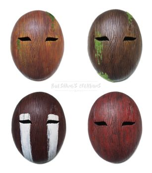 Wooden Masks by Bueshang