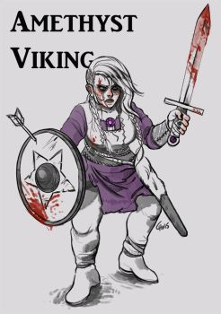 Amethyst Steven Universe Viking Outfit by cuprumfox