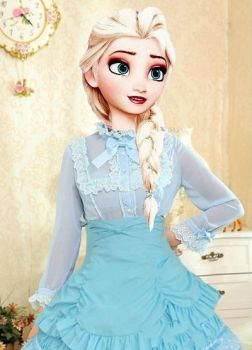 Modern Queen Elsa Lolita Fashion Dress by drpepperswife