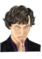 Sherlock thinking in the lab by Melnia