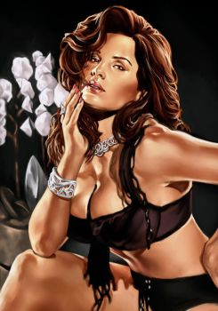Kelly Brook by KeiranMorrisArt
