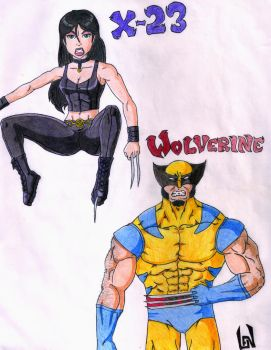 X23 and Weapon X by lenboogie