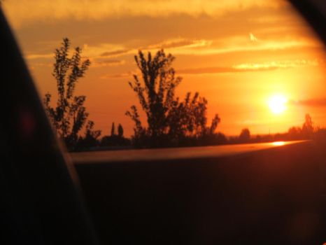Long Drives Slow Sunsets by HobarBritt