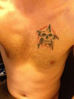 Star skull tattoo by Jayluke2006