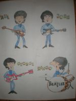 The Fab four in color by Beatlesluver56