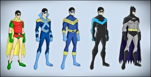 Dick Grayson Evolution by DraganD