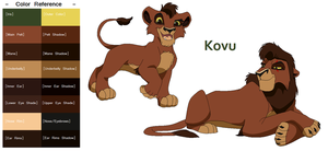 TLK Kovu Color Reference by FeralHeartsFan
