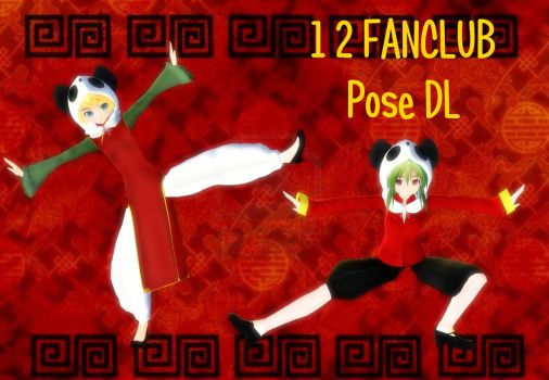 MMD 1,2 Fanclub Pose DL by crysscake