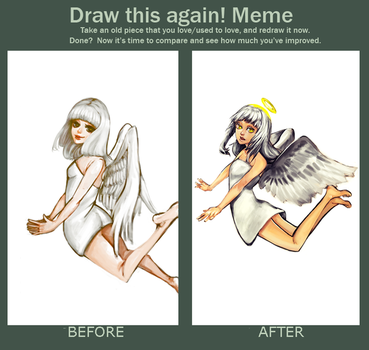 Meme Before And After Angel by yomei-san