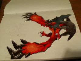 Yveltal Painting by ScorchTheCyndaquil
