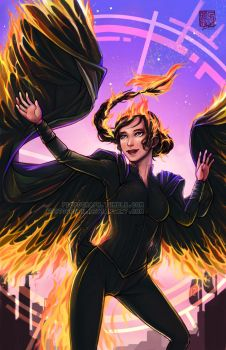 Fanart - The Girl on Fire by fictograph