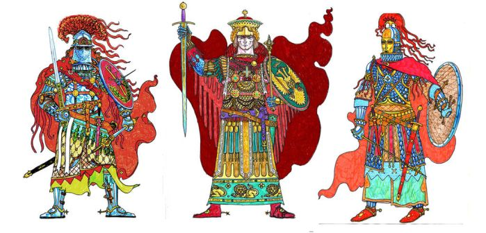 medieval Roman(Byzantine) fantasy characters by Simulyaton